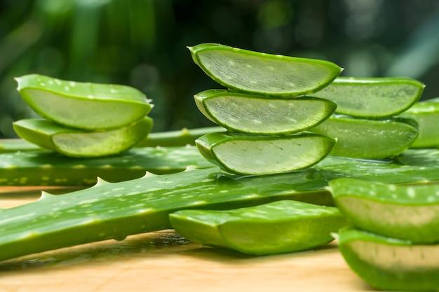 Slice of aloe vera