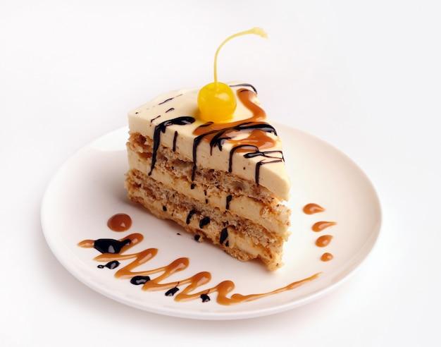 Slice of a cake.