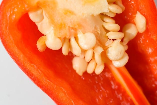 Slice of chili pepper, close-up