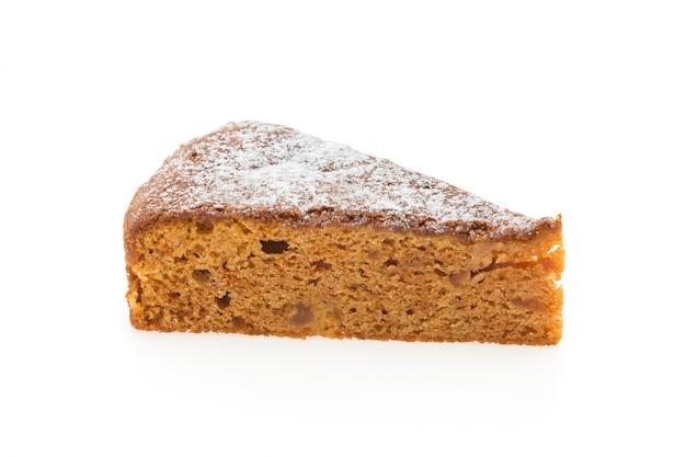Slice of homemade cake