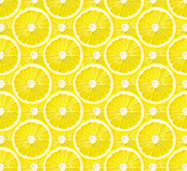 レモンフルーツの背景パターンのスライス