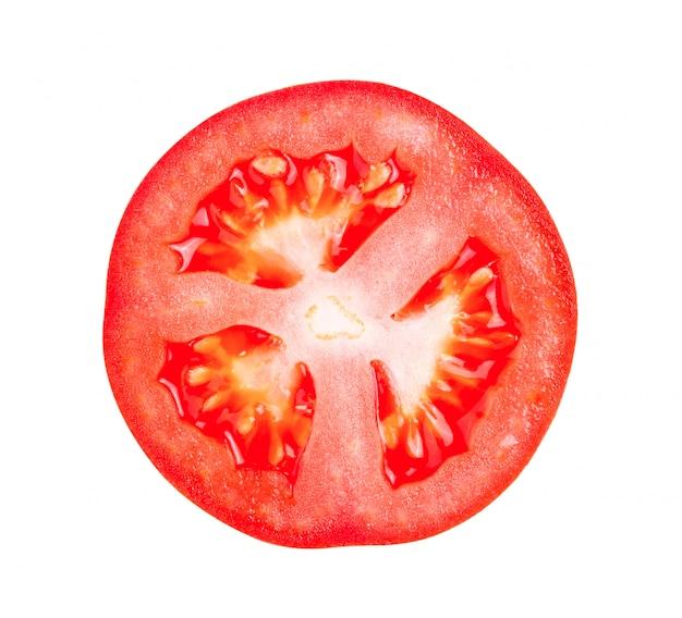 Ломтик помидора на белом