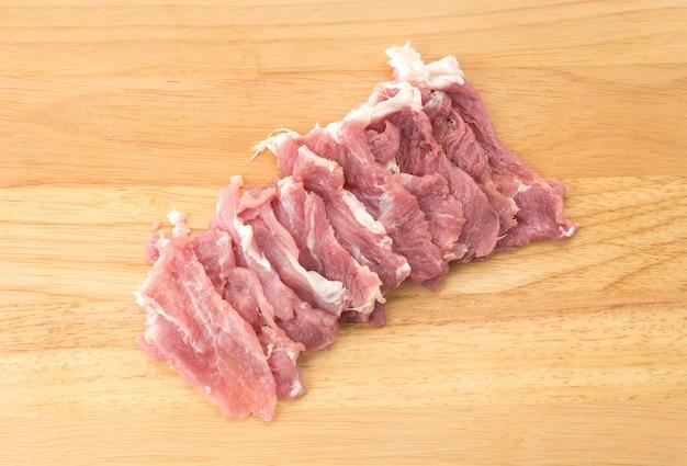 Slice pork Free Photo