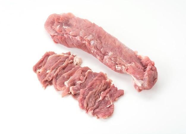 슬라이스 돼지 고기