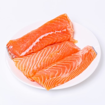 Slice of raw salmon