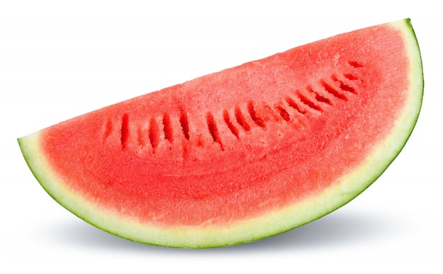 Slice watermelon isolated on white clipping path