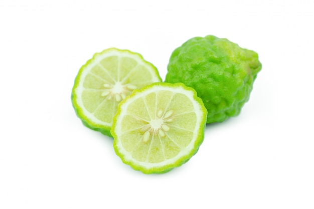 Sliced bergamot isolated