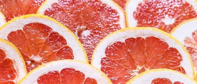 Sliced grapefruit as a background