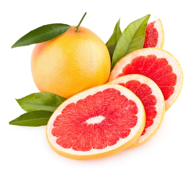 スライスしたグレープフルーツ
