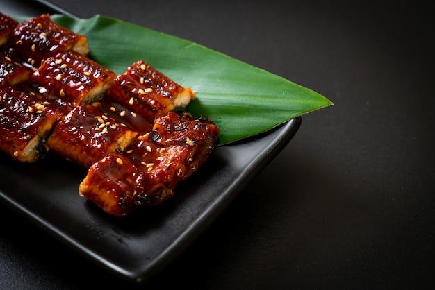 うなぎのスライス焼きまたはうなぎのタレ焼き(蒲焼)。 。日本食スタイル