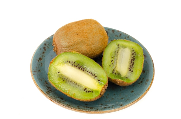 Нарезанный киви, сладкая сочная зеленая мякоть