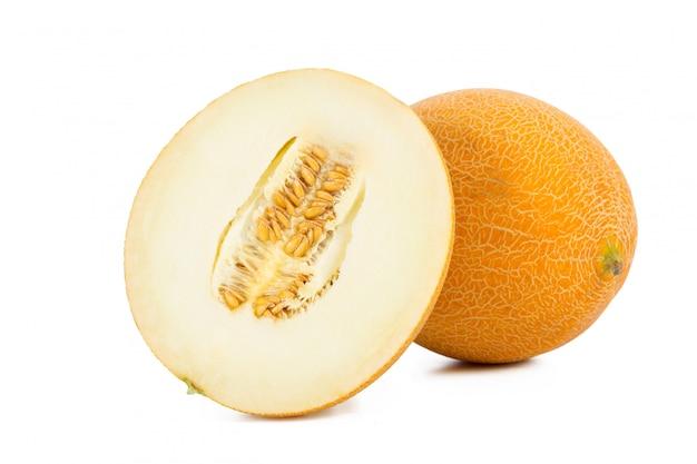 Sliced melon isolated