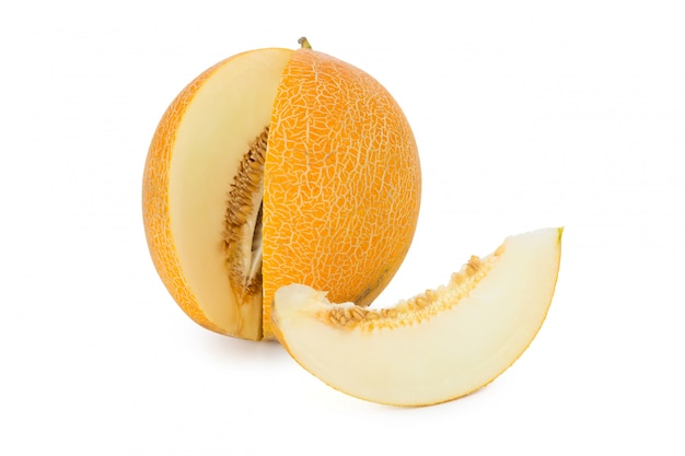 Sliced melon isolated