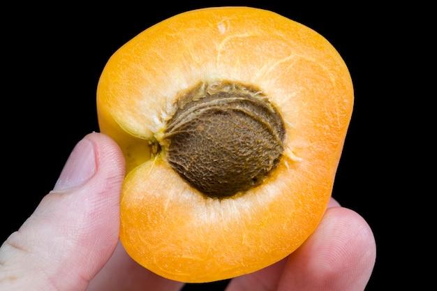スライスしたオレンジアプリコット