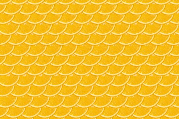 Нарезанный оранжевый узор. яркий плоский фон. свежие сочные фрукты, источник витамина с.