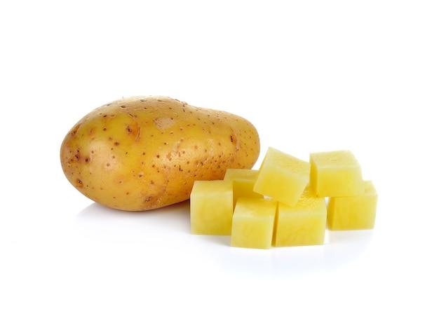 화이트에 슬라이스 감자