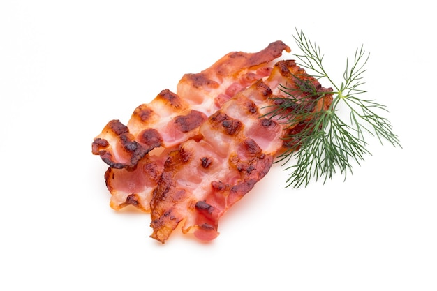 Sliced prosciutto or parma ham isolated on white.