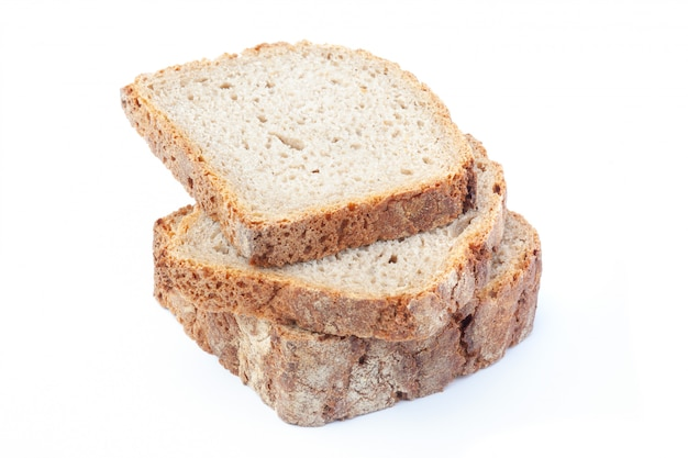 Sliced rye bread. isolated