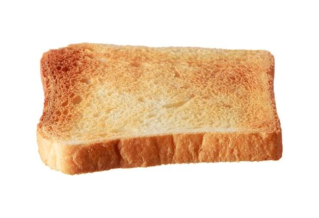 Нарезанный тостовый хлеб, изолированные на белом фоне