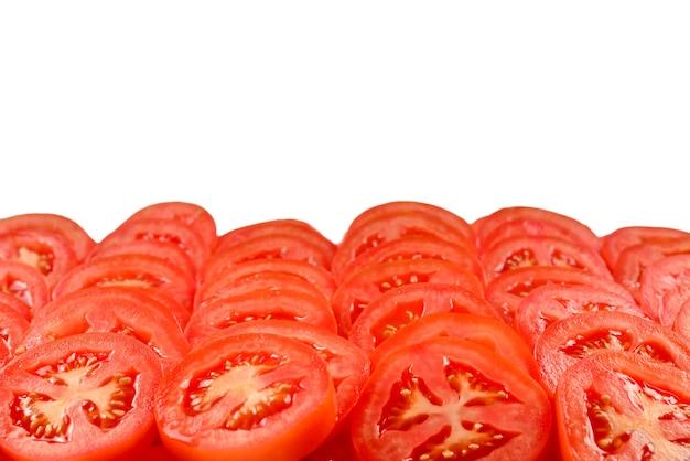 슬라이스 토마토 배경