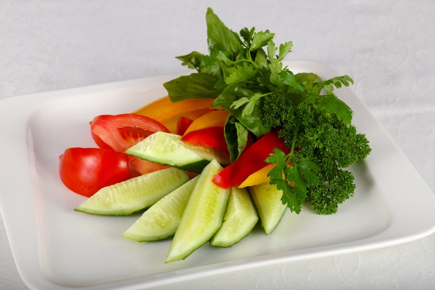 Нарезанные овощи