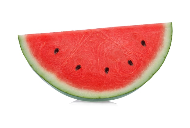 Sliced of watermelon isolated on white surface