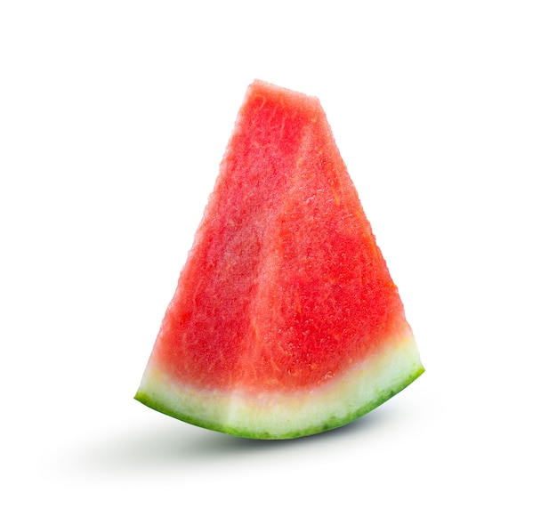 Sliced of watermelon on white background