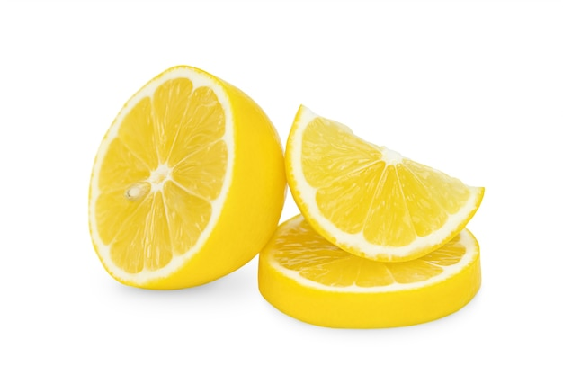 Slices of lemon isolated