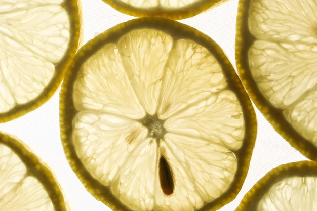 Slices of lemons