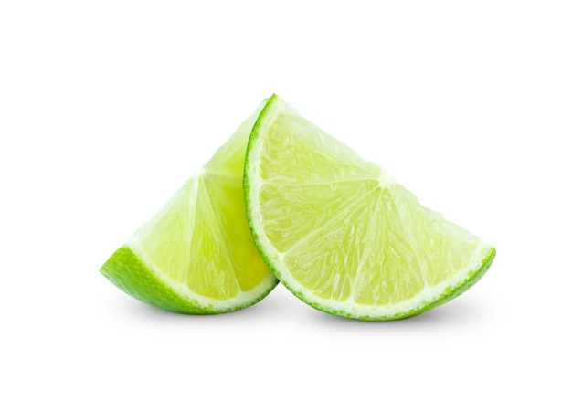 Slices of lime isolated
