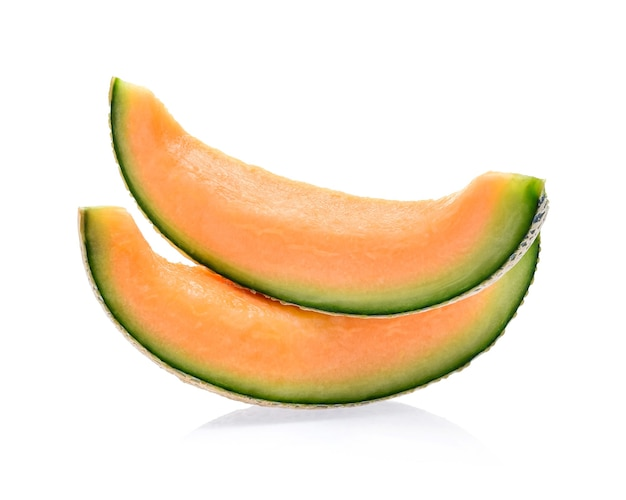 Slices of melon isolated