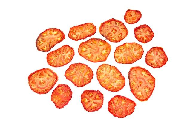 白地にドライトマトのスライス