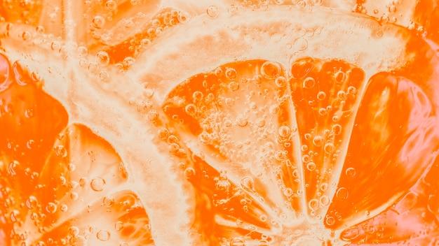 切りたてのオレンジのスライス
