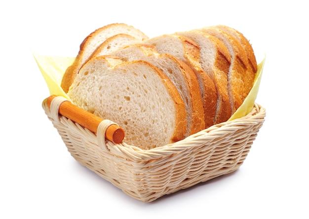 かごの中の白パンのスライス