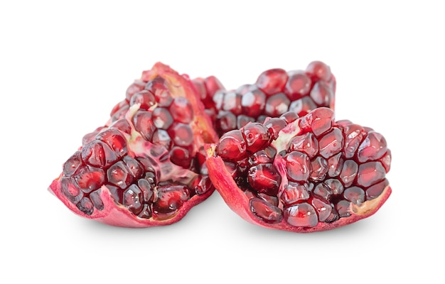 Slices of pomegranate isolated