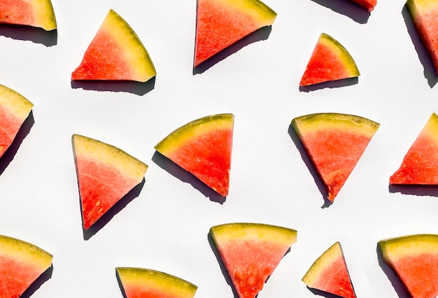 Slices of seedless watermelon