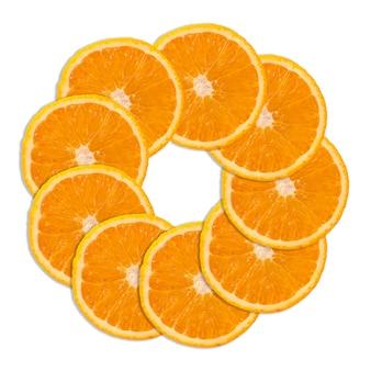 Slices of sweet orange fruit