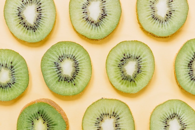 Slices of tasty ripe kiwi