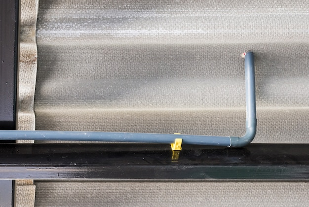 Slim plastic pipe for electric wire.