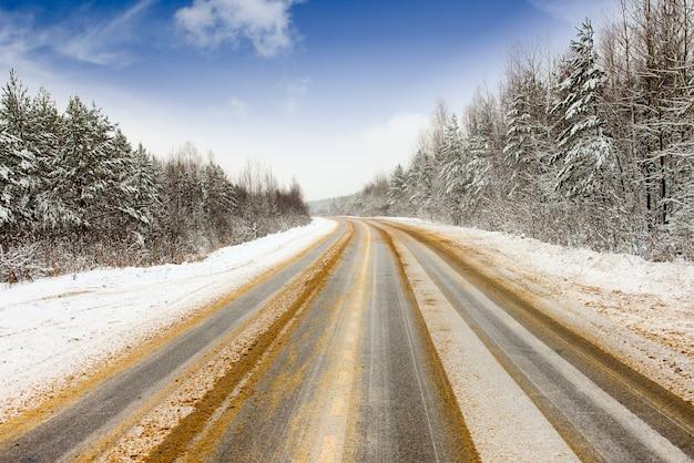 Slippery road winter treated reagent