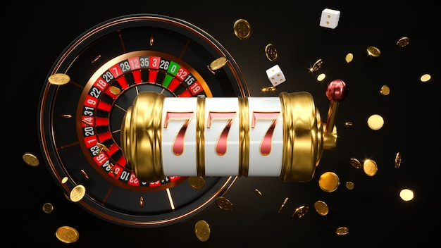 Slot machine with roulette wheel
