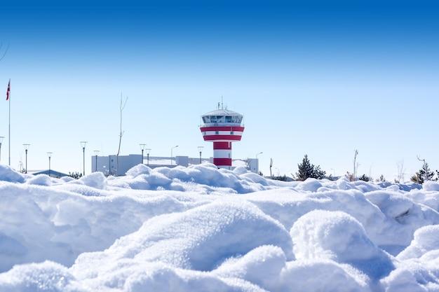 Small airport in kars - turkey
