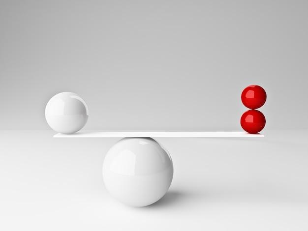 Маленькие шары в балансе