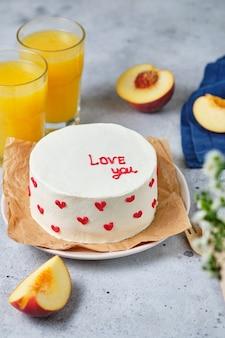 Маленький торт бенто для любимого торты в корейском стиле в коробке на одного человека