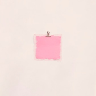 Small blank paper on light table