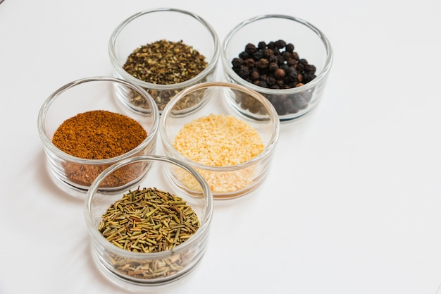 Small bowls with spices