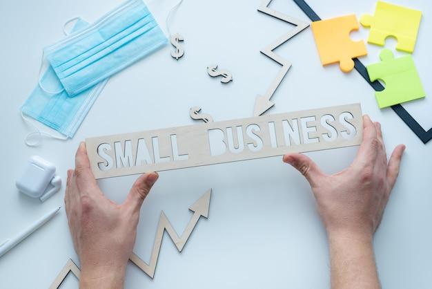 中小企業とcovidの背景 Premium写真