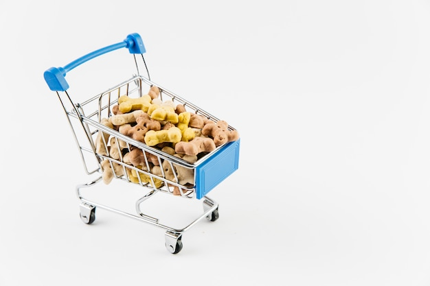 Small cart with treats for dogs