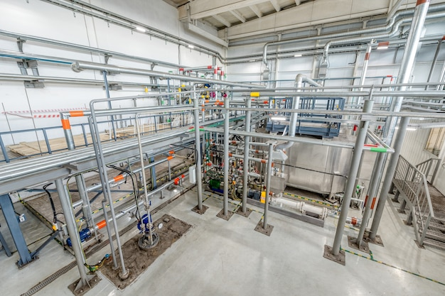 Small chemical plant. production of chemical emulsions for mining