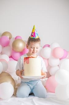 パーティー風船、お祝いの小さな子供